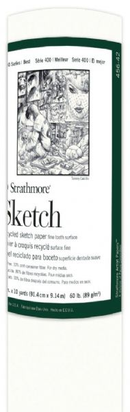 "Strathmore 36"" x 10 Yard Recycled Sketch Paper Roll"