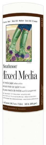 "Strathmore 400 Series Mixed Media Paper 42"" X 8 Yd. Roll"