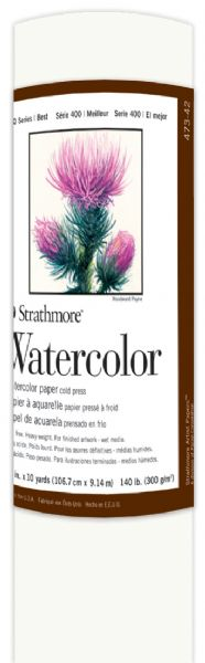 "Strathmore 42"" x 10yd Cold Press Watercolor Roll"