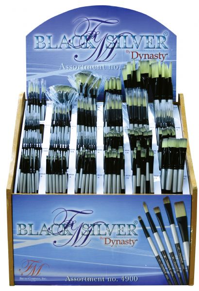 Dynasty Black Silver® Blended Synthetic Watercolor Brush Display Assortment