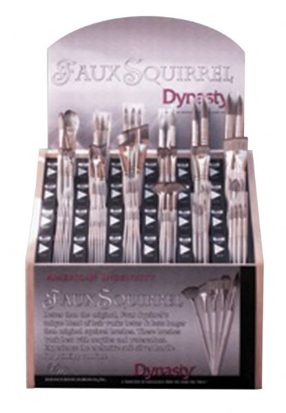 Dynasty Faux Squirrel Synthetic Watercolor Brush Display Assortment