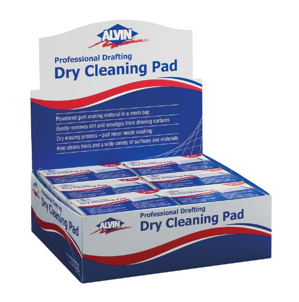 Alvin Professional Drafting Dry Cleaning Pad Display/12