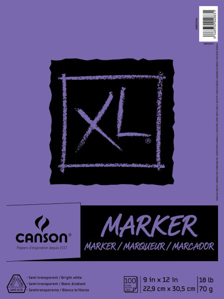 "Canson XL® 9"" X 12"" Marker Pad (Fold Over)"