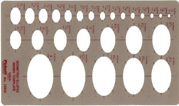 Pickett Pickett Isometric Ellipses: drafting template