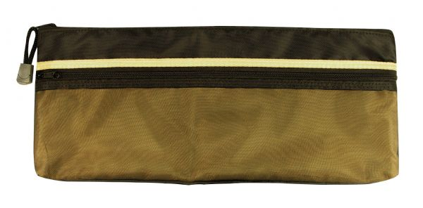 "Alvin 5"" X 13"" Dual Zippered Pocket Fabric Mesh Bag"