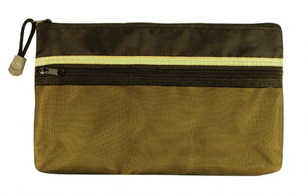 "Alvin 5"" X 9"" Dual Zippered Pocket Fabric Mesh Bag"