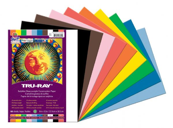 "Pacon® Tru-Ray® Construction Paper Assorted Colors 9"" X 12"""