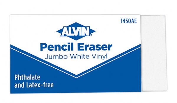 Alvin Jumbo White Pencil Erasers 12/Box