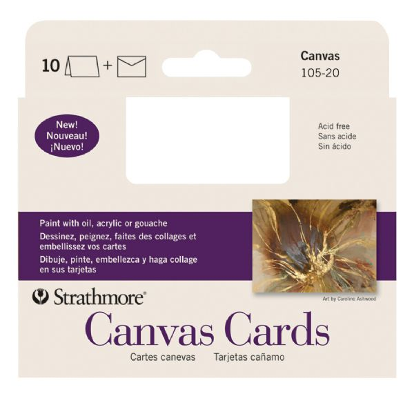 "Strathmore Announcement Size Canvas Cards 3.5"" X 4.75"""