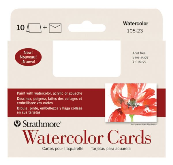 Strathmore Announcement Size Watercolor Cards