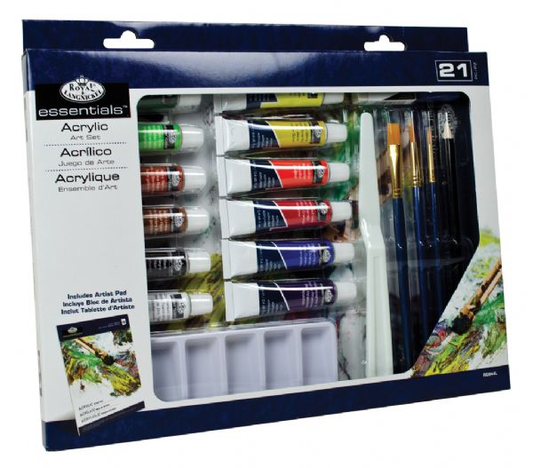 Royal & Langnickel Essentials™ 21-Piece Acrylic Painting Set