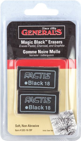 General's® Magic Black™ Soft Erasers 2-Pack