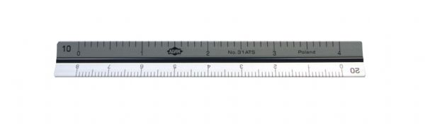 "Alvin 30 Series 4"" Mini Aluminum Engineer Triangular Scale"