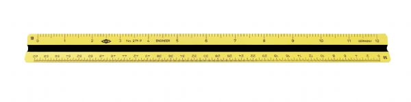 "Alvin 270P Series 12"" Impact Plastic Engineer Triangular Scale"