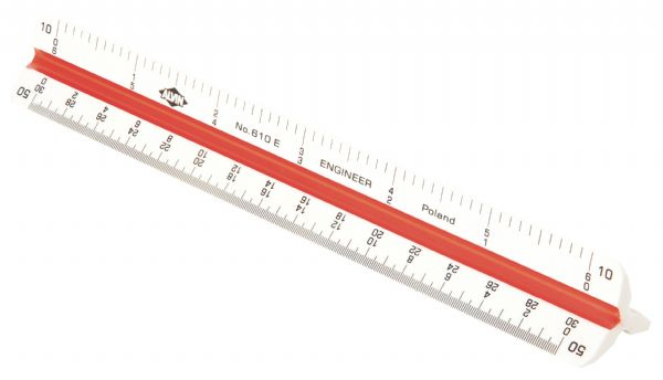 Alvin Alvin 600 Series 6'' Plastic Triangular Scale: Engineer (610E)