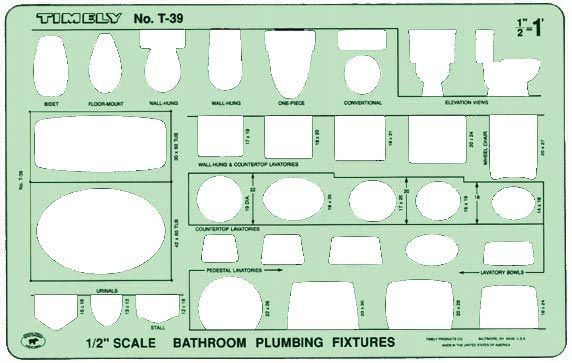 Timely Bathroom Plumbing Template