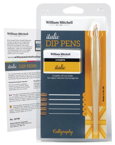 William Mitchell Italic Dip Pen Set