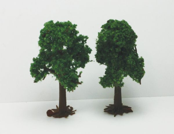 "Wee Scapes 3"" & 4"" Light Green Deciduous Trees 2-Pack"