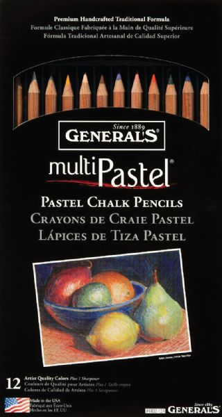 General's® Pastel Pencil 12-Color Set