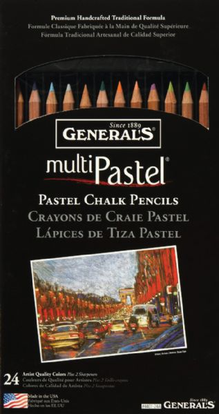 General's® Pastel Pencil 24-Color Set