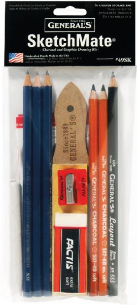 General's® SketchMate™ Charcoal & Graphite Drawing Kit