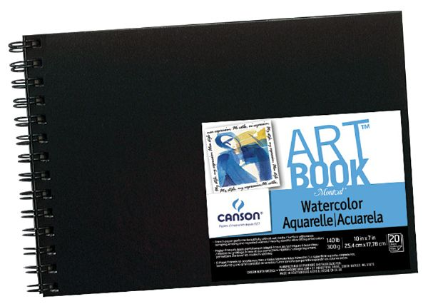 "Canson ArtBook™ 10"" X 7"" Field Watercolor Wirebound Book"