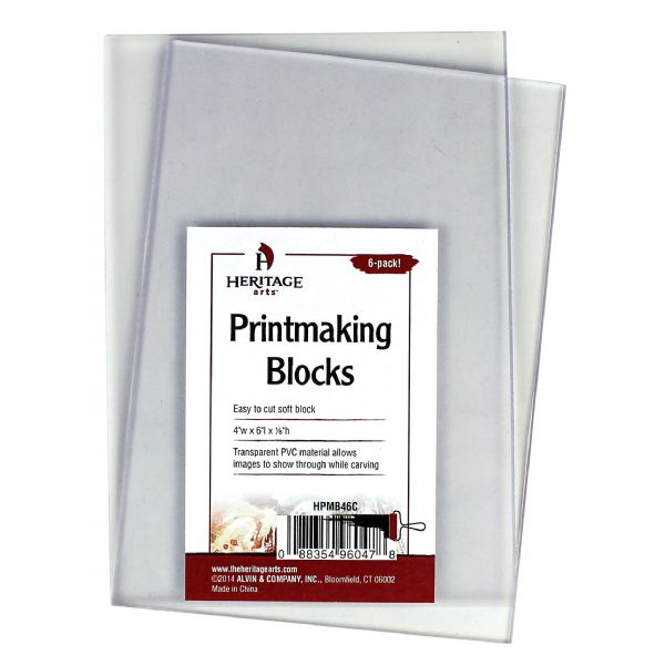 Heritage Arts Clear Printmaking Blocks 6-Pack