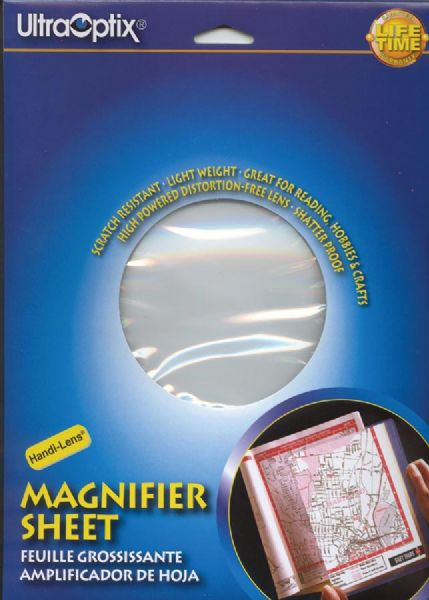 Ultraoptix® 2x Hard Magnifier Sheet