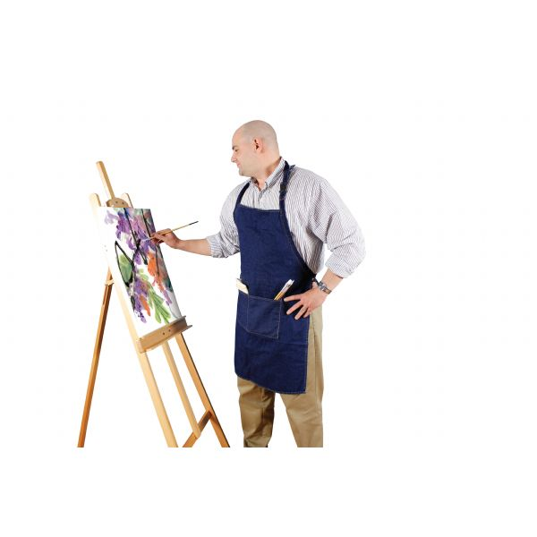 Heritage Arts™ Standard Adult Extra Large Adult Size Denim Artist Apron: Blue, Denim, Adult