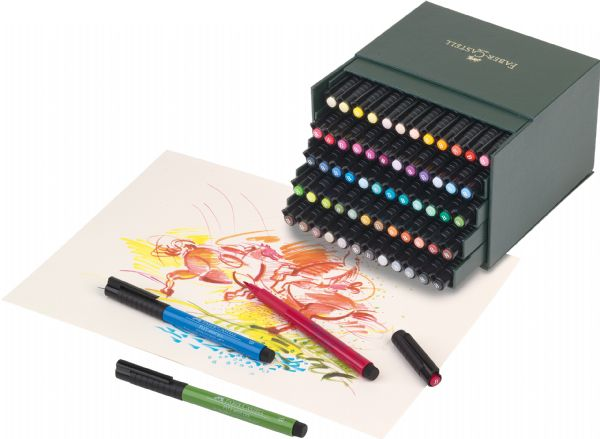 Faber-Castell PITT® 60-Piece Artist Pen Box Set