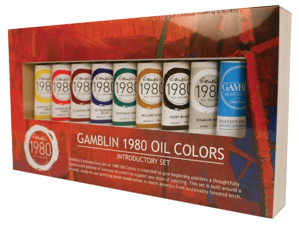 Gamblin 1980 8-Color Oil Paint Set + Medium