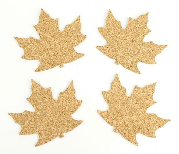 Design Ideas Maple Leaf Coasters 4-Pack