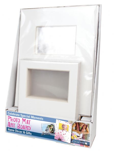 "Crescent® 8"" X 10"" + 11"" X 14"" Photo Mat Art Board Counter Display"