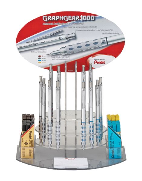 Pentel GraphGear 1000™ Drafting Pencil Display Assortment