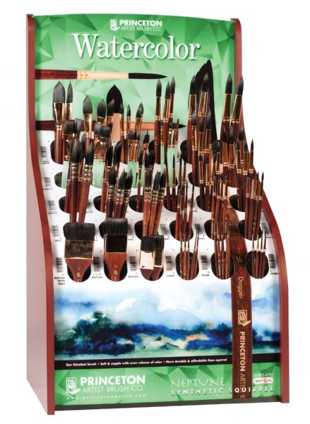 Princeton Best Neptune™ Synthetic Squirrel Watercolor Brush Display Assortment
