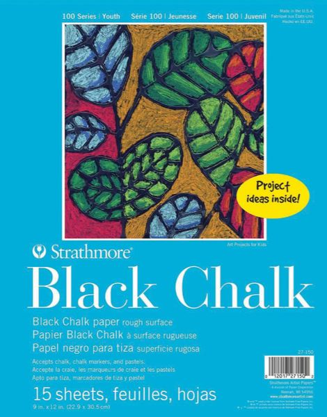 Strathmore Glue Bound Black Chalk Paper Pad