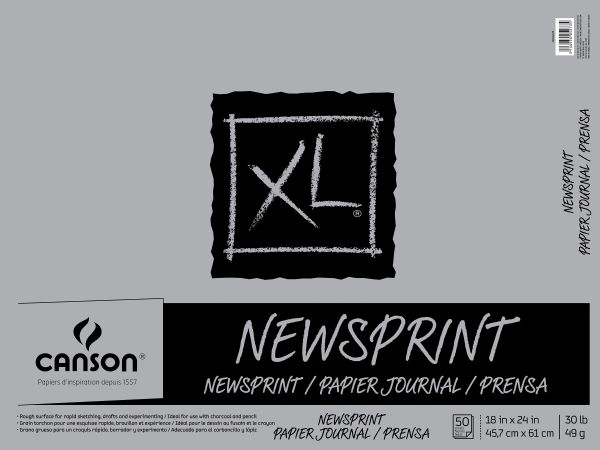 "Canson XL® 18"" X 24"" Newsprint 50-Sheet Pad (Fold Over)"