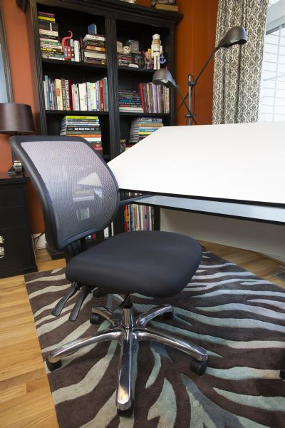 Alvin Argentum Mesh Back Chair Office Height