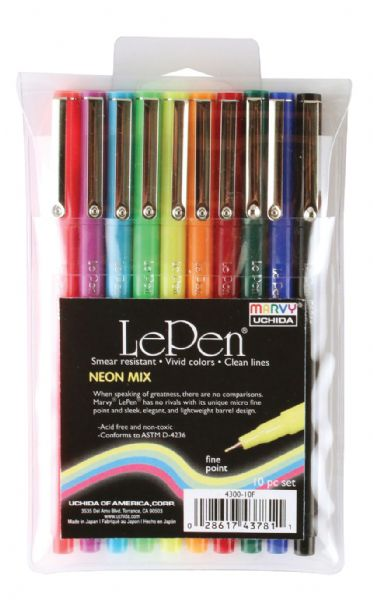 Marvy LePen® Fineline Markers Neon Mix