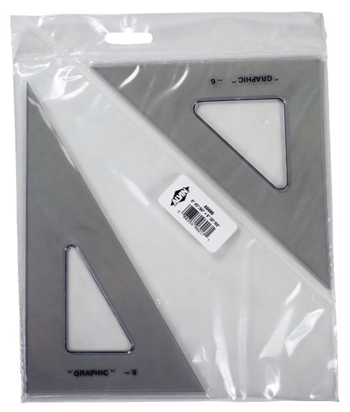 "Alvin 6"" & 8"" Transparent Triangle Set"