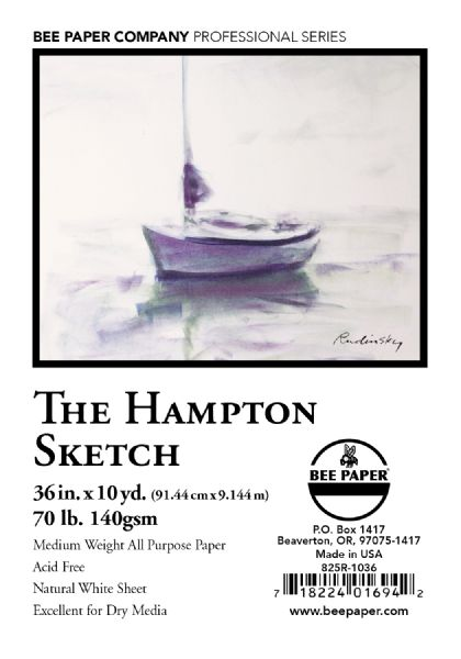 "Bee Paper The Hampton Sketch Roll 36"" X 10yd"