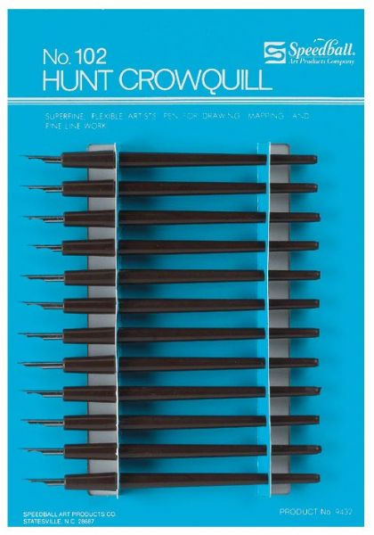 Speedball #102 Crow Quill Pen Nibs & Holders