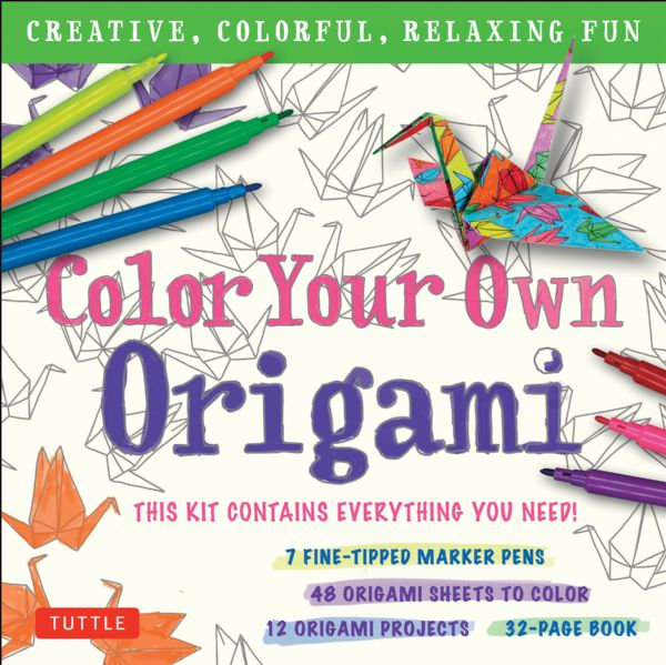 Tuttle Color Your Own Origami Kit