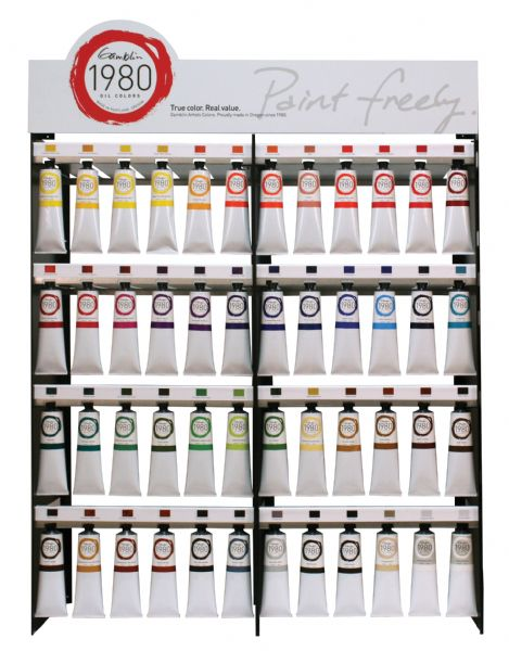 Gamblin 1980 48-Color 150ml Display Assortment