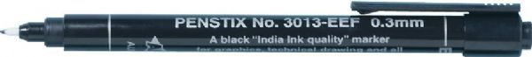 Alvin® Penstix Black Technical Marker Extra Extra Fine: Black/Gray, .03mm, Fine Nib, Technical