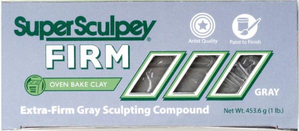 Sculpey SuperSculpey® Firm Clay Gray