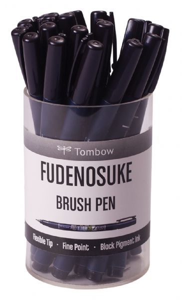 Tombow Fudenosuke Brush Pen Display