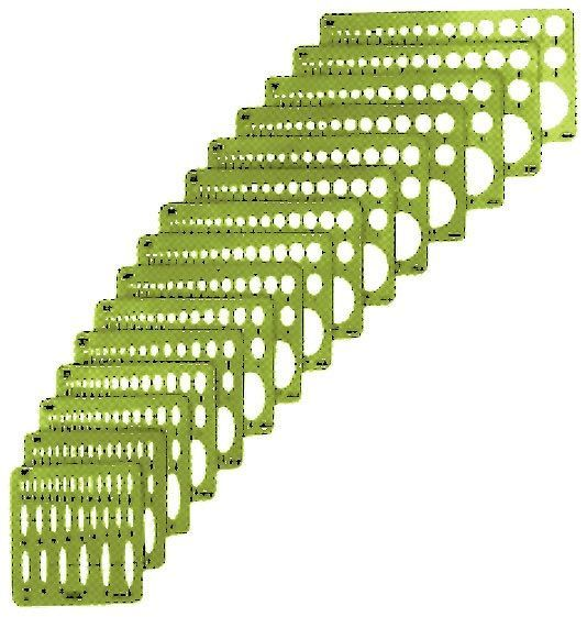 Alvin Alvin Small Series Ellipse: Set of 15: drafting template