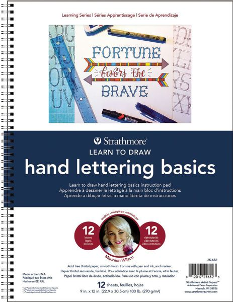 Strathmore Learning Series Pad Learn to Draw Hand Lettering