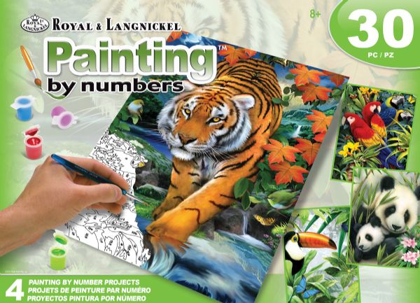Royal & Langnickel Painting By Numbers™ Art Adv Paint By Number - Jungle Box Set